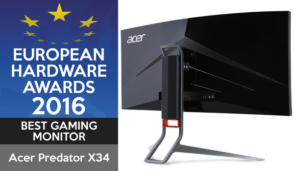 european hardware awards acer predator X34A