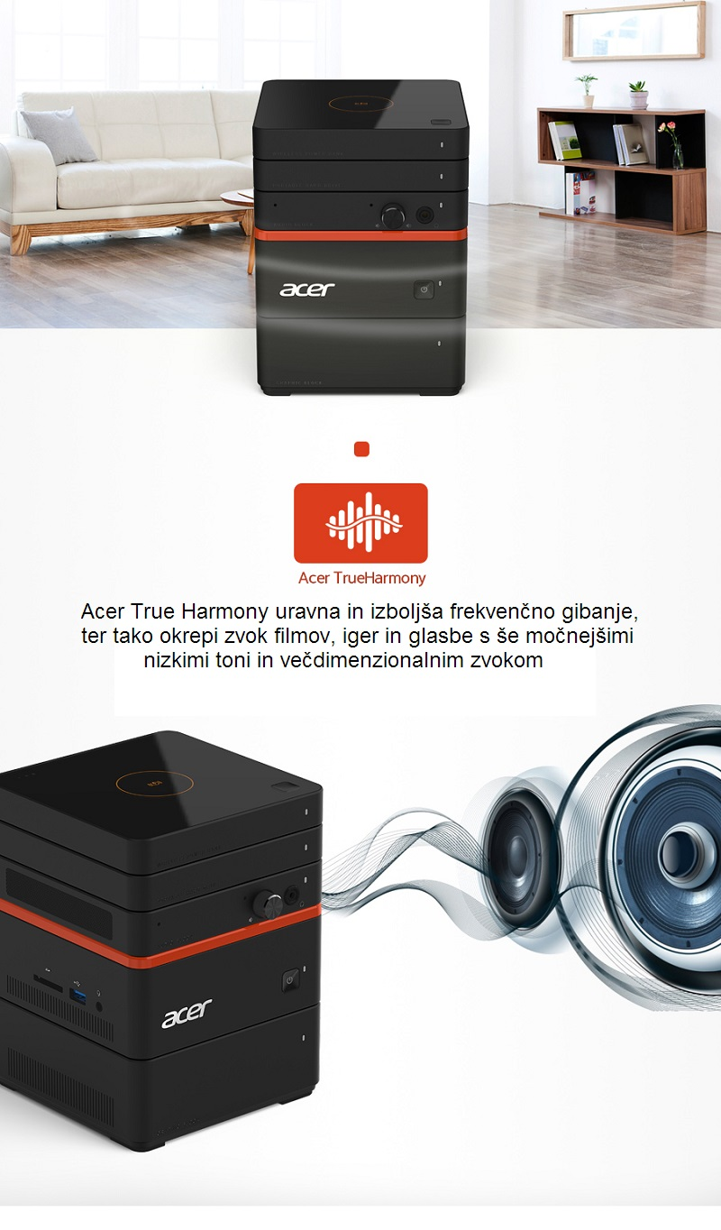 acer revo build audio blok zvočniki trueharmony