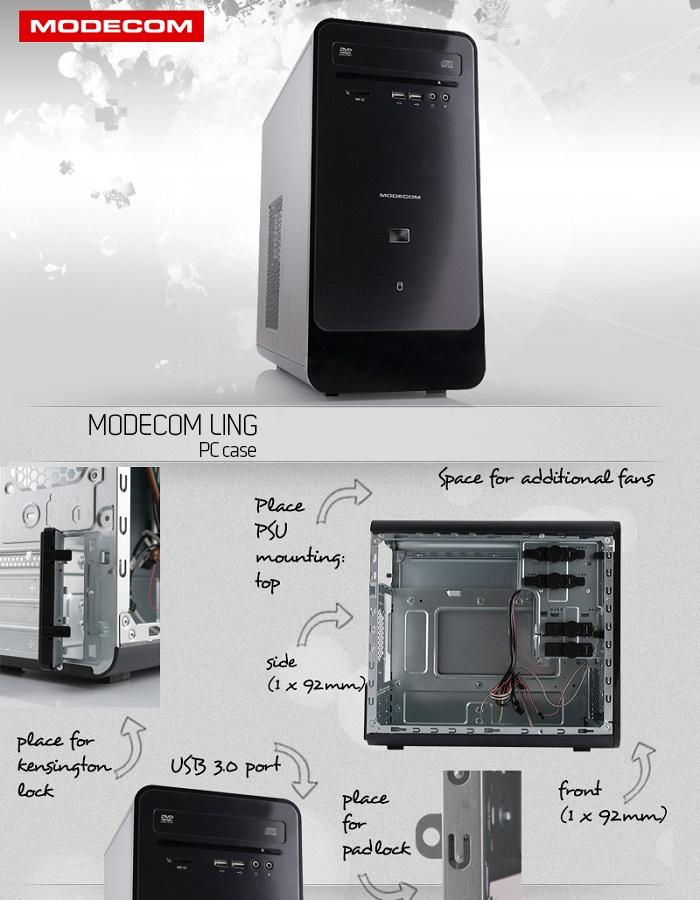 modecom mini tower ling micro atx itx